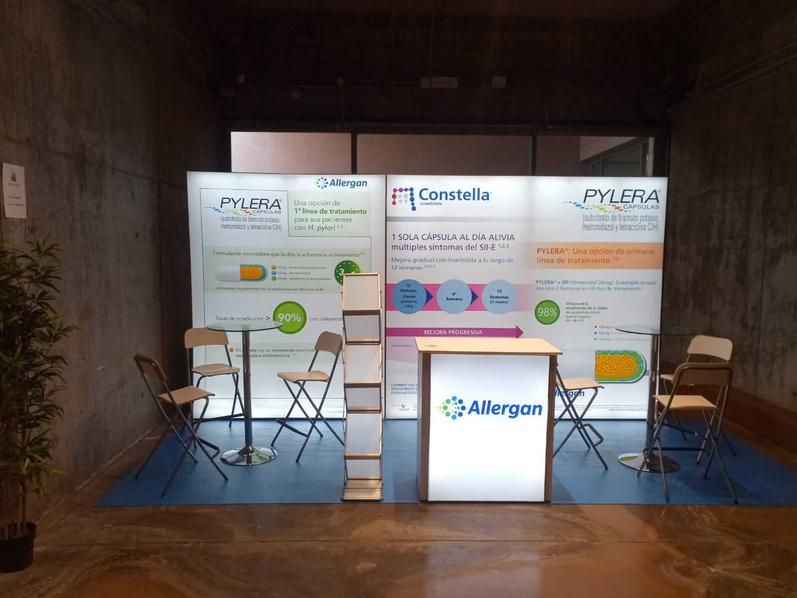 Brightwall Display Stand for Allergan Pharma by Nomadic Display