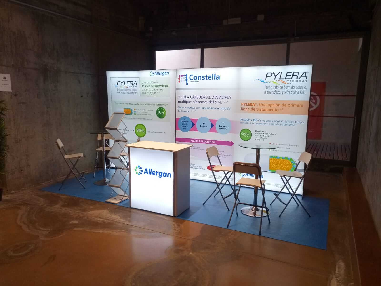 Brightwall Display Stand for Allergan Pharma by Nomadic Display View 2