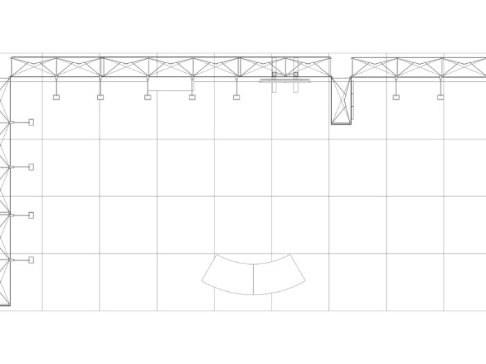9x4.5m Pop Up Exhibition Stand Floor Plan