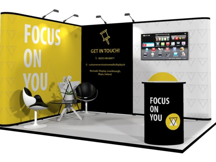 4 x 3m Faltdisplay-Messestand.