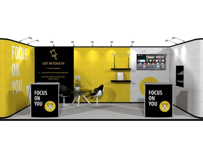 6x3m Pop Up Exhibition Stand