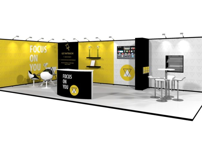 9x4.5m Pop Up Exhibition Stand