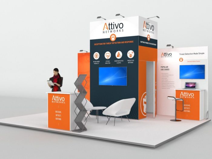 6x4.5m Exhibition Stand with 3.5m Feature Wall