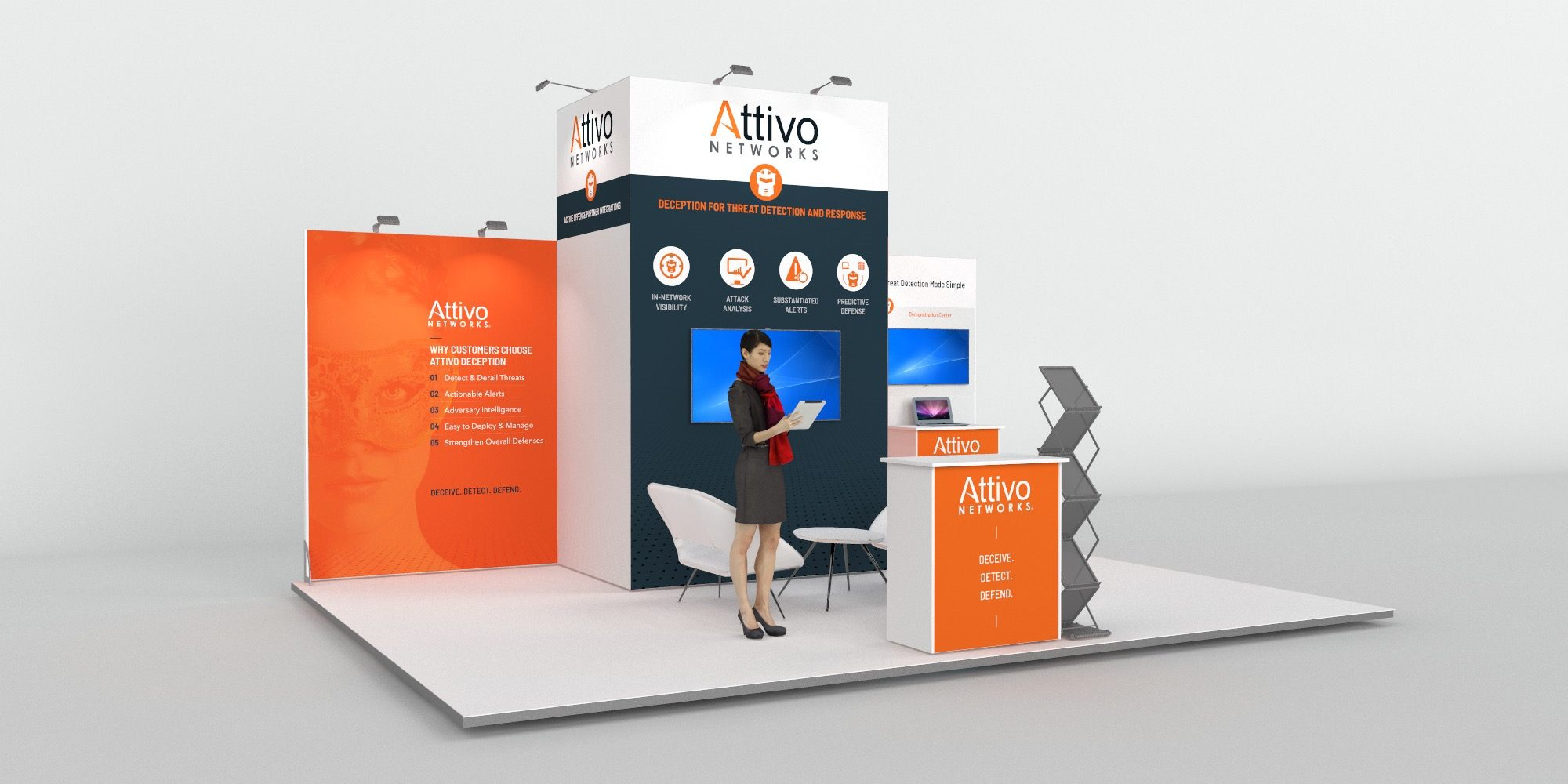 6x4.5m Exhibition Stand with 3.5m Feature Wall View 2