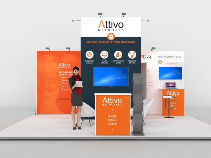 6x4.5m Exhibition Stand with 3.5m Feature Wall View 3