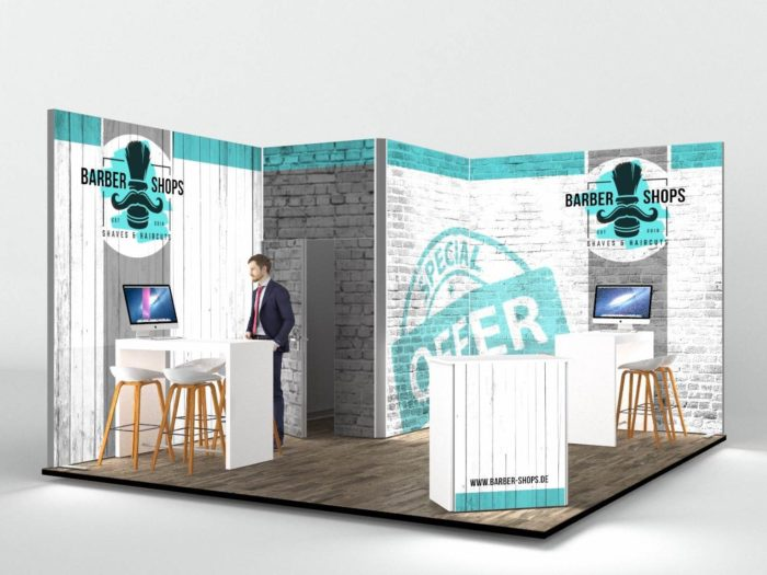 4.5x5m Exhibition Stand with 3m High Walls