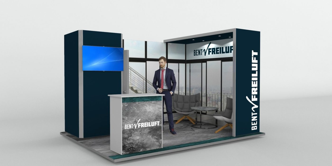 4x3m Exhibition Stand With Meeting Area
