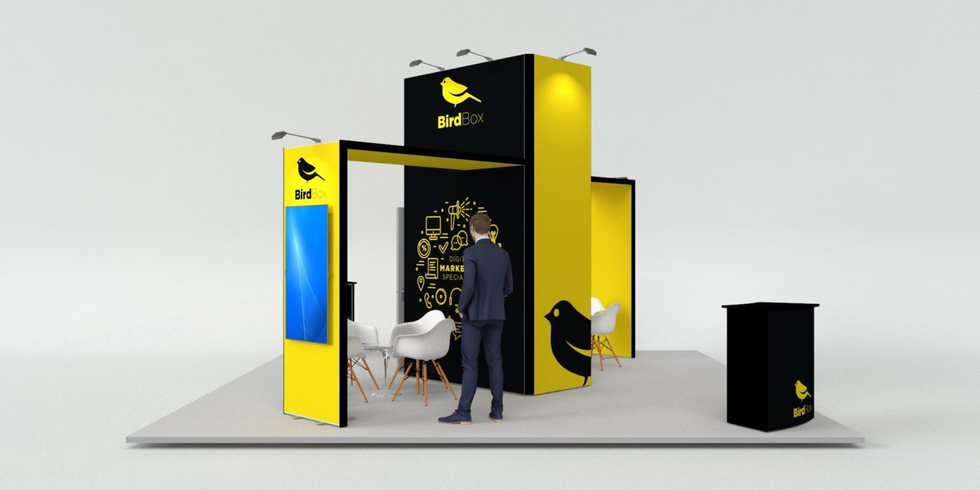 6x6m Island Exhibition Stand with 2 Arches View 3