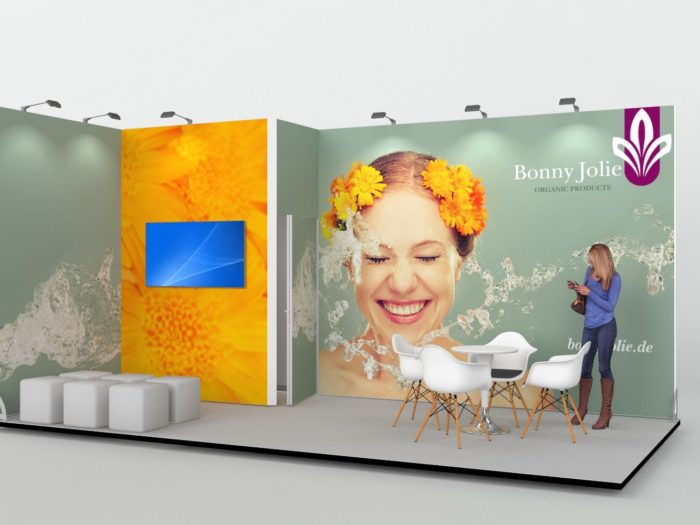 6x3m Exhibition Stand with Lockable Storage Area