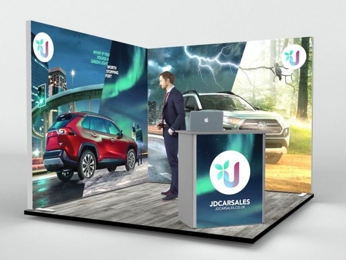 3x3mtr Backlit Corner Exhibition Stand