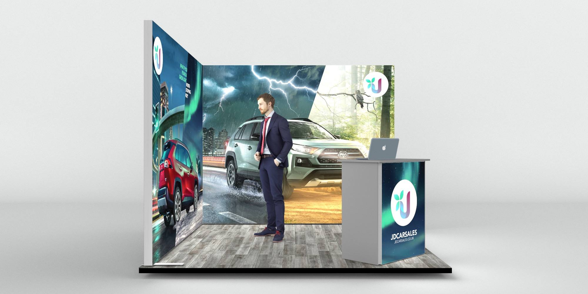 3x3mtr Backlit Corner Exhibition Stand View 3