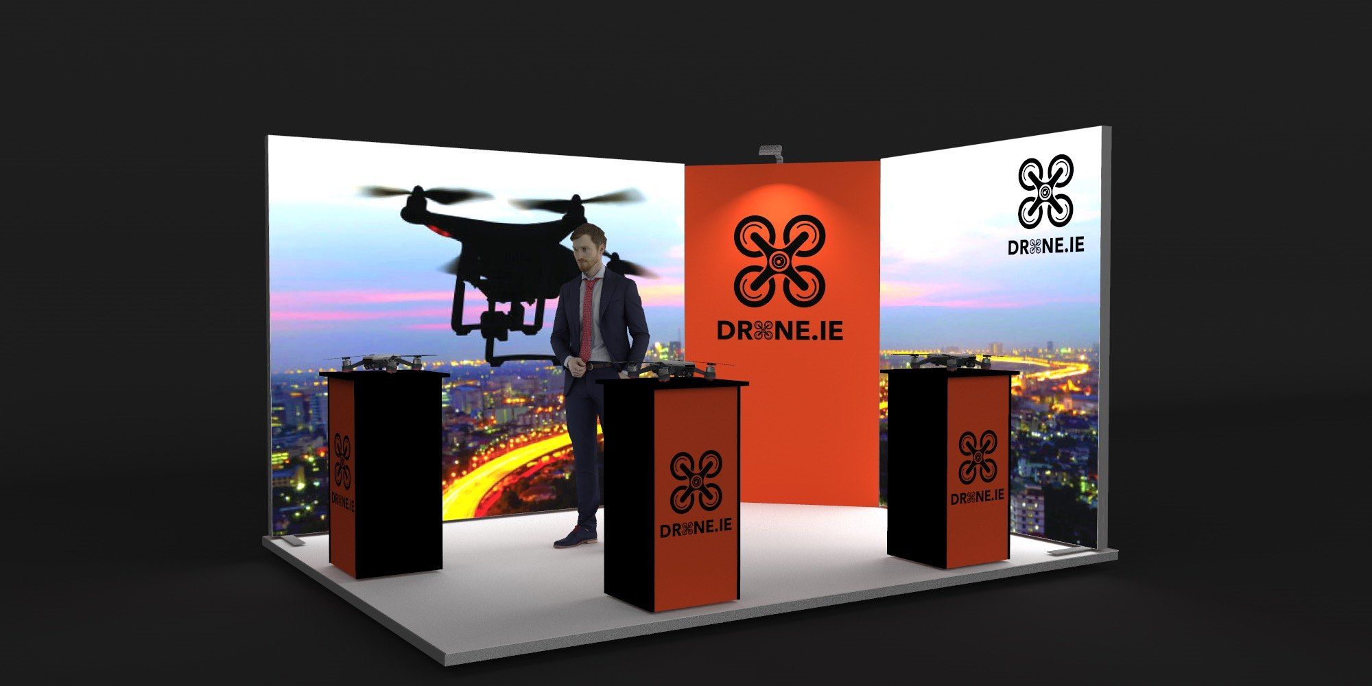 4x3m Exhibition Stand With Backlit Walls View 2
