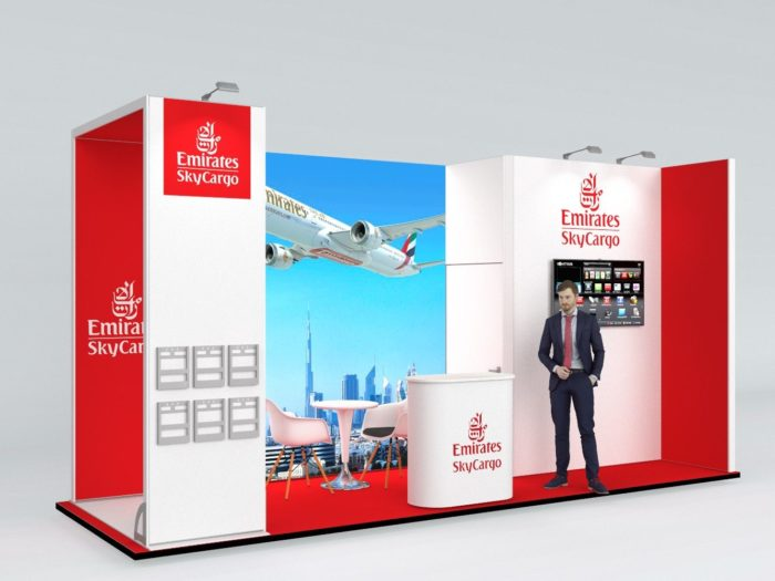 6x2m Exhibition Stand with 3mtr high Walls