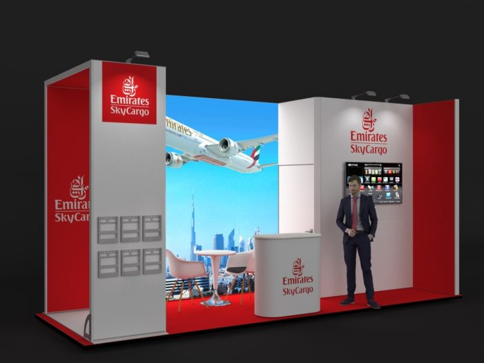 6x2m Exhibition Stand with 3mtr high Walls View 2