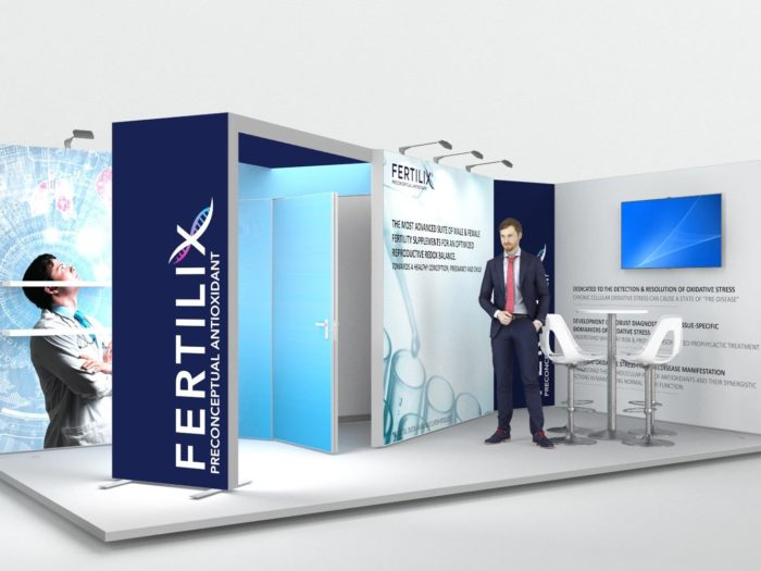 6x3m 2 Sided Exhibition Stand with Feature Arch