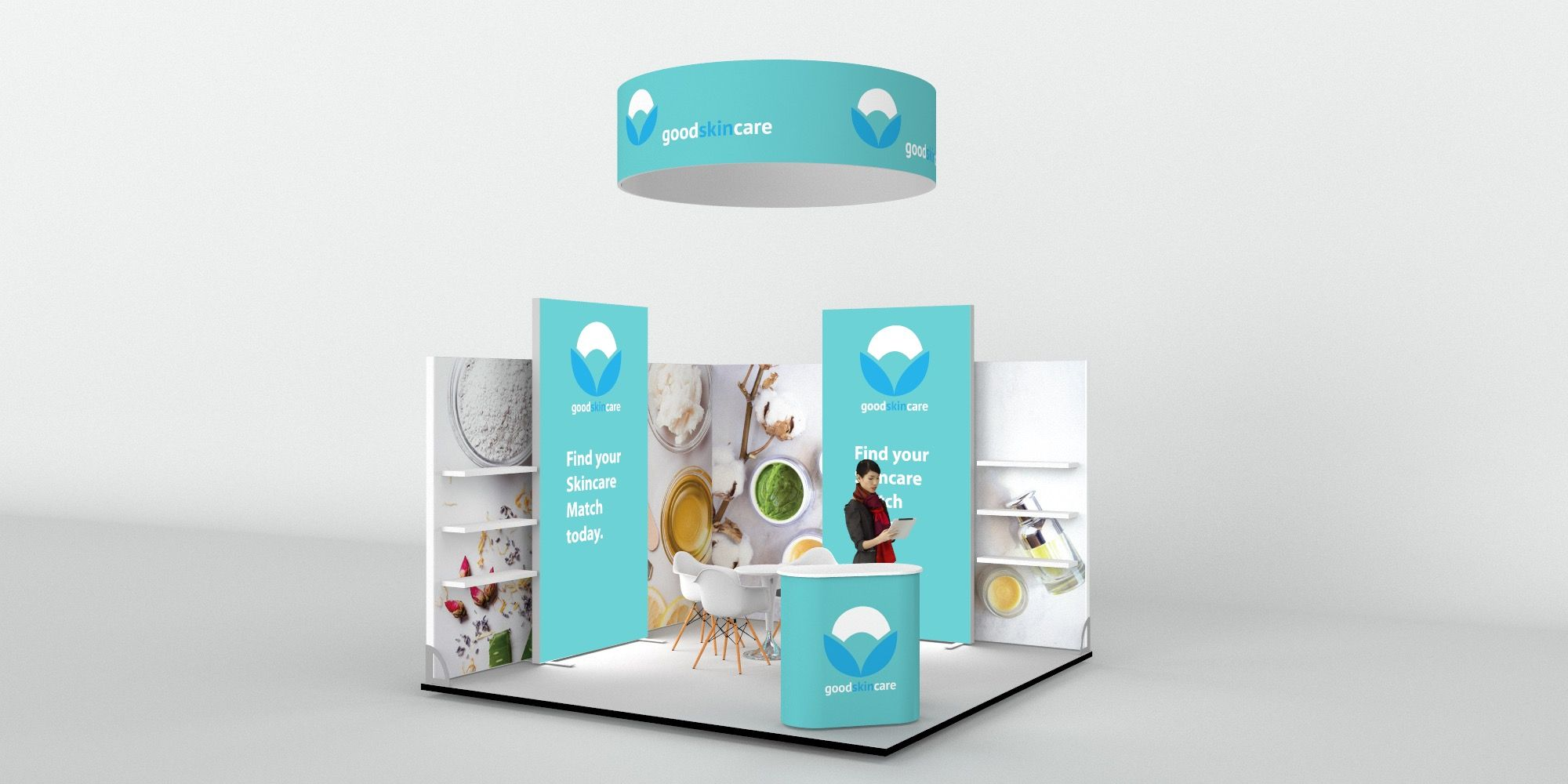 4x4m Exhibition Stand with Overhead Arch