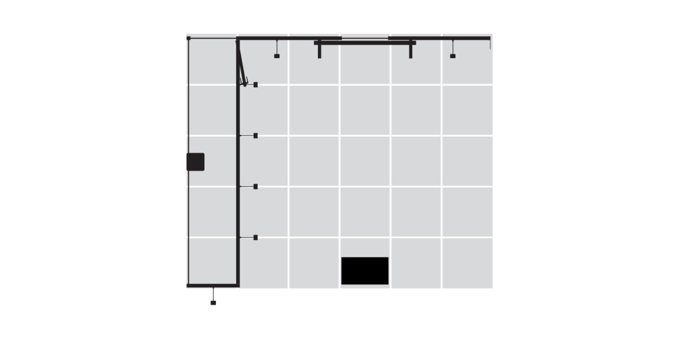 6x5m Exhibition Stand with Large Storage Area Floor Plan