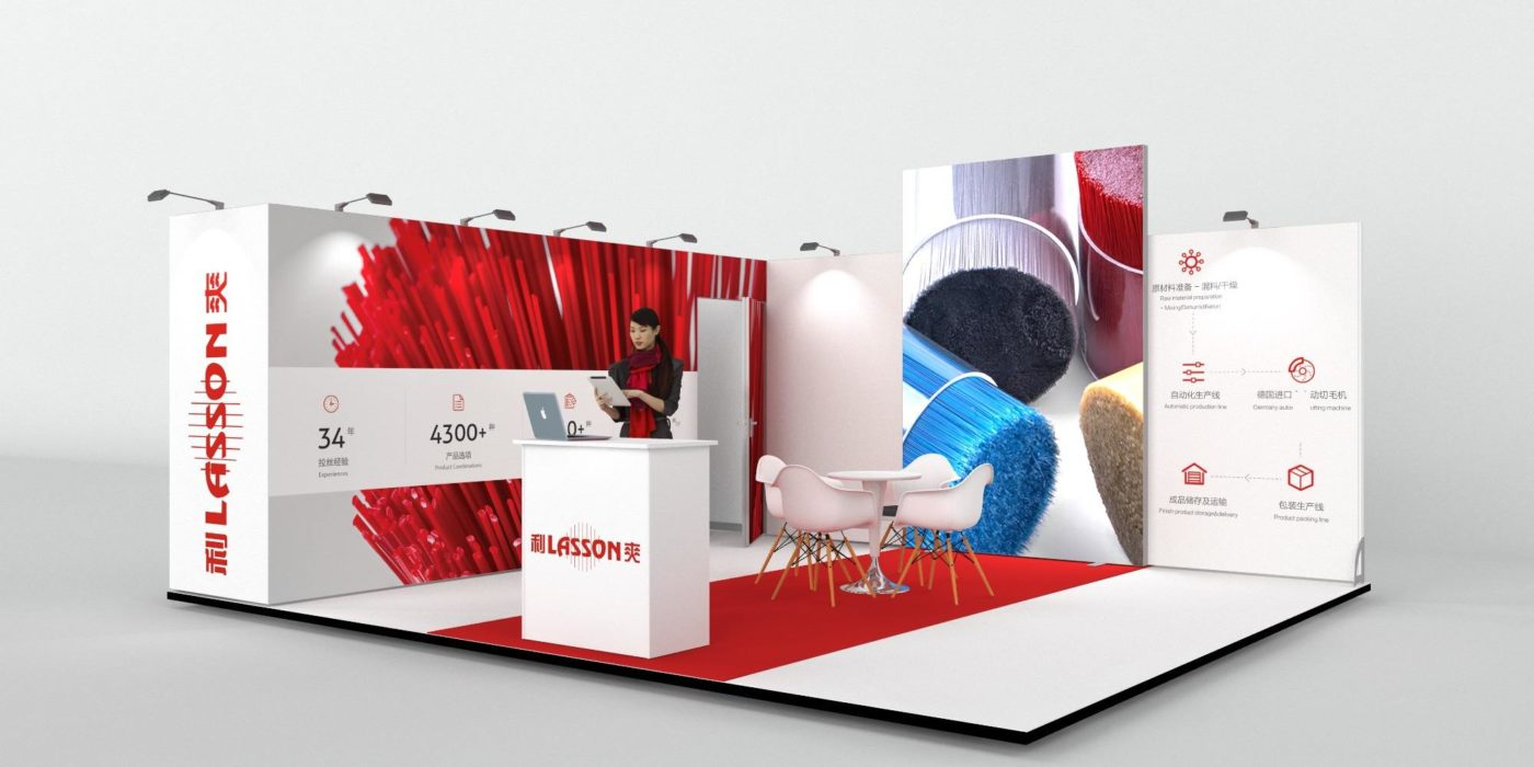 6x5m Exhibition Stand with Large Storage Area