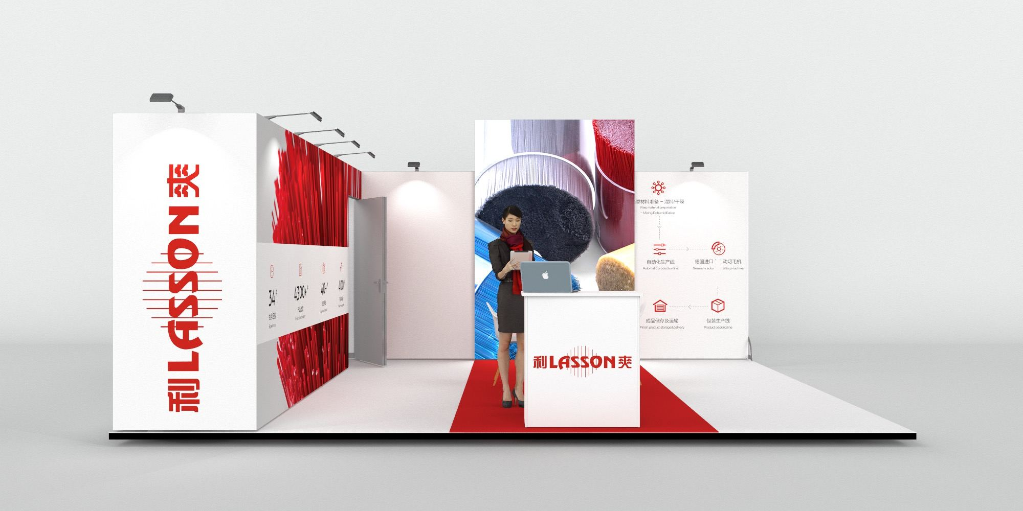 6x5m Exhibition Stand with Large Storage Area View 3