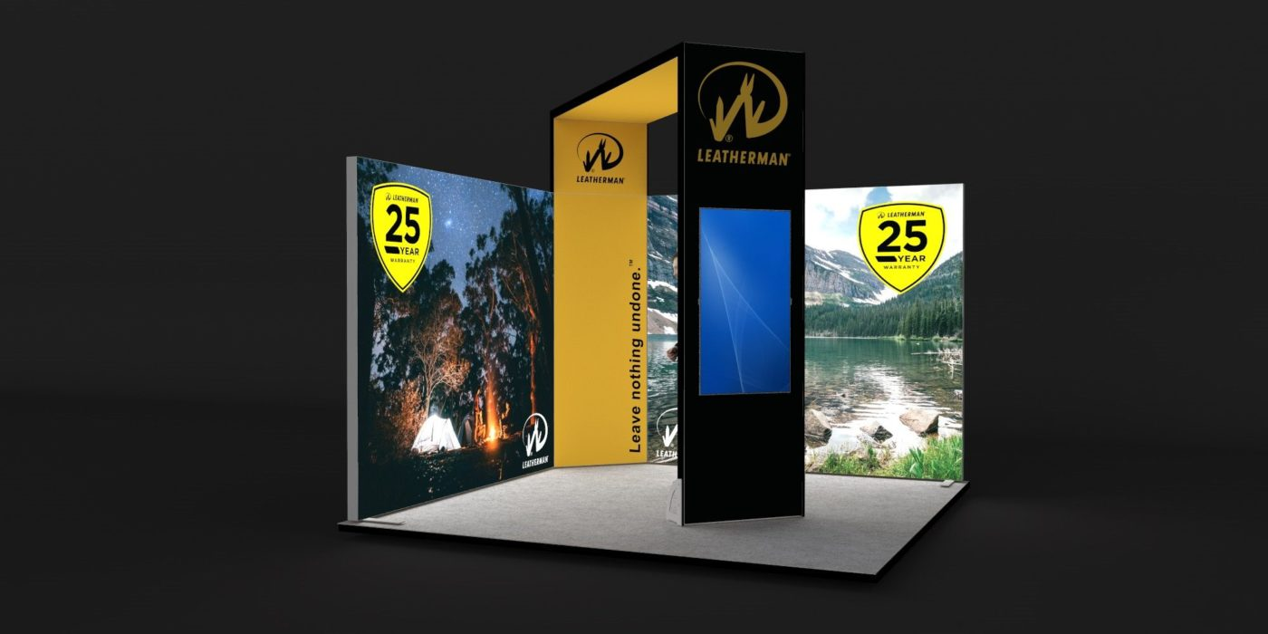 3.5x3.5m Exhibition Stand with Raised Height Arch View 2