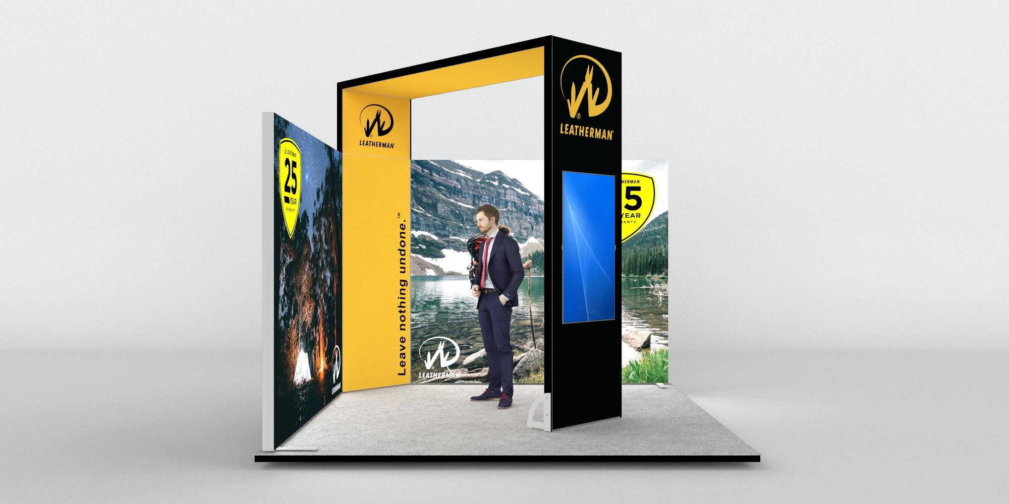 3.5x3.5m Exhibition Stand with Raised Height Arch View 3