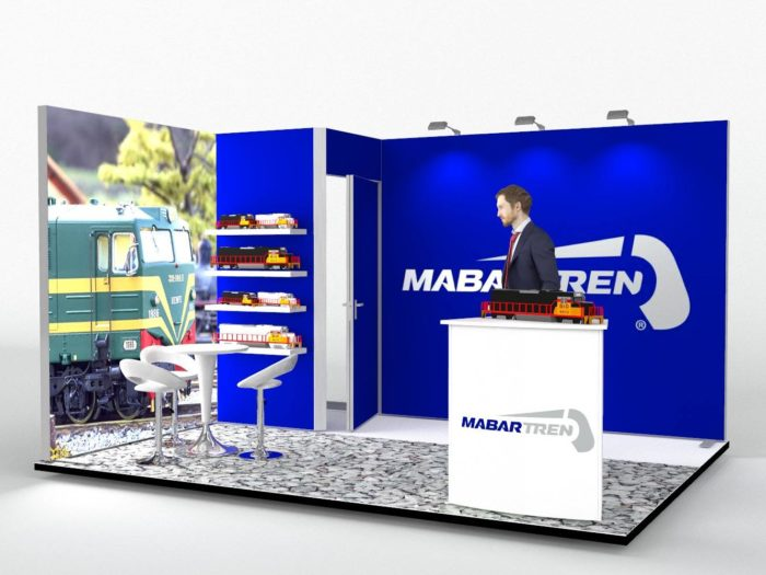 4x3m Fabric Exhibition Stand With Storage Area