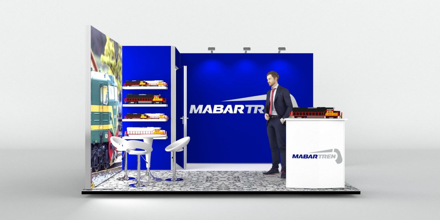4x3m Fabric Exhibition Stand With Storage Area View 3