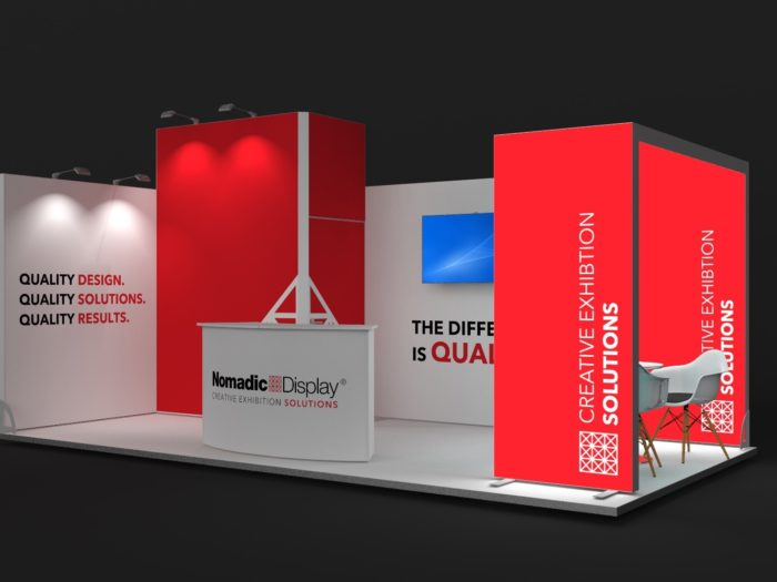 6x3m 2 Sided Exhibition Stand with Arch and Storage Area View 2
