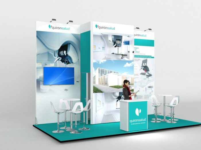 6x3m Exhibition Stand with 4mtr High Backwall