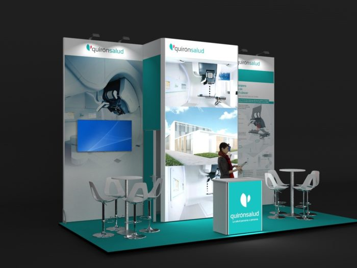 6x3m Exhibition Stand with 4mtr High Backwall View 2