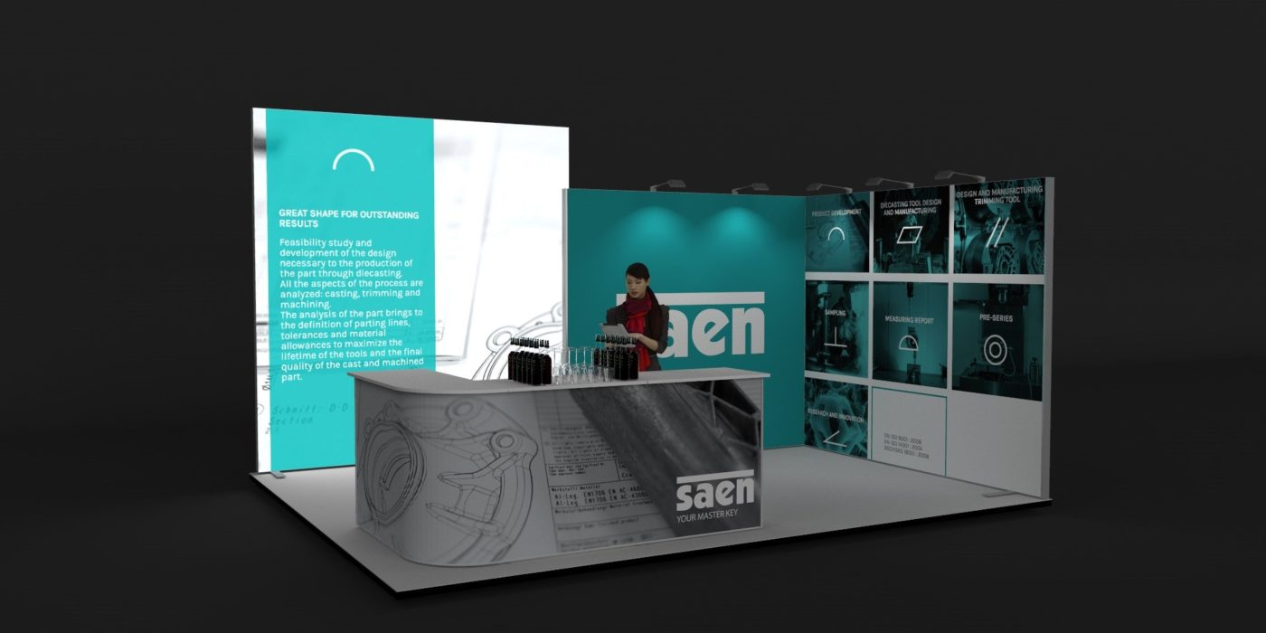 5x4m 2 Sided Fabric Exhibition Stand View 2