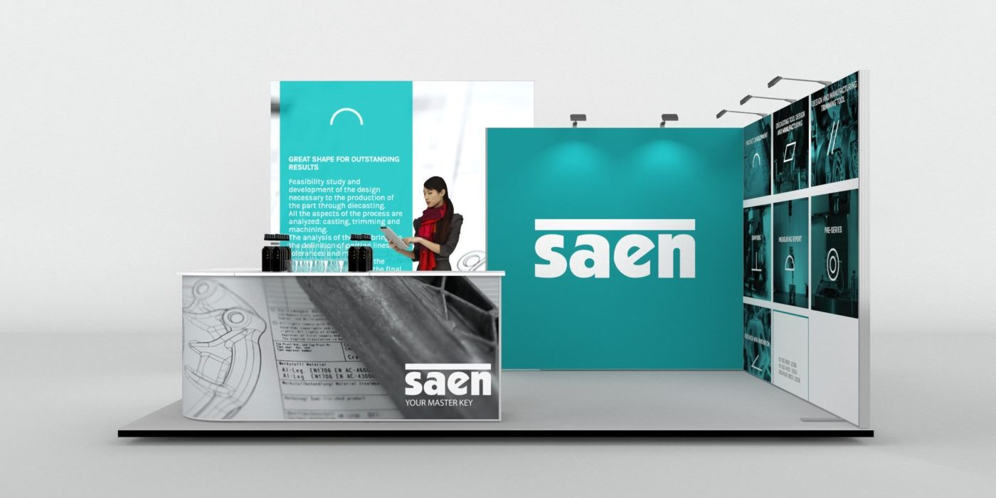 5x4m 2 Sided Fabric Exhibition Stand View 3