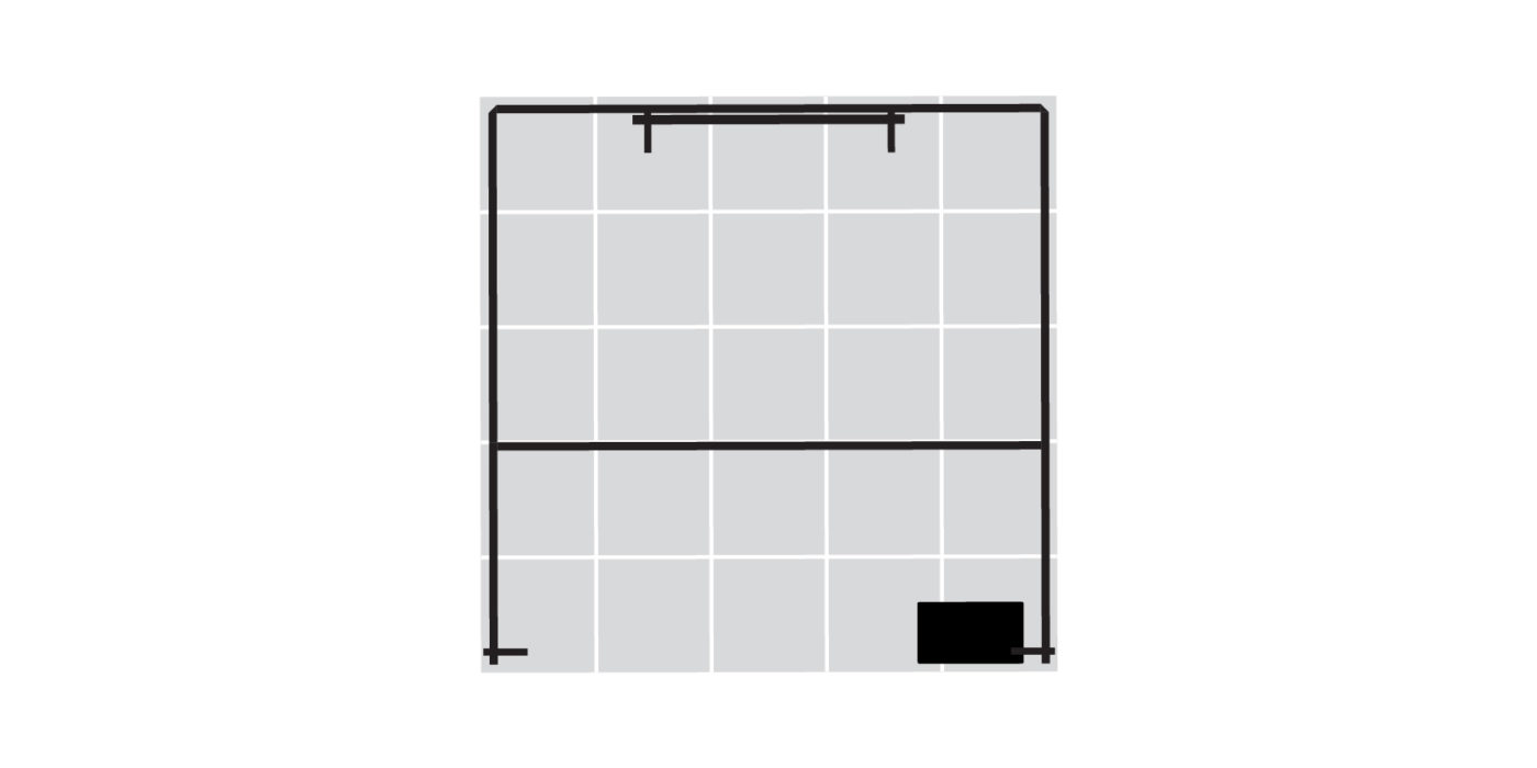 5x5m Exhibition Stand with Meeting Area Floor Plan