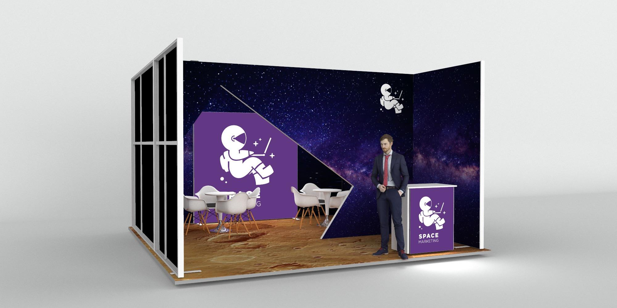 5x5m Exhibition Stand with Meeting Area