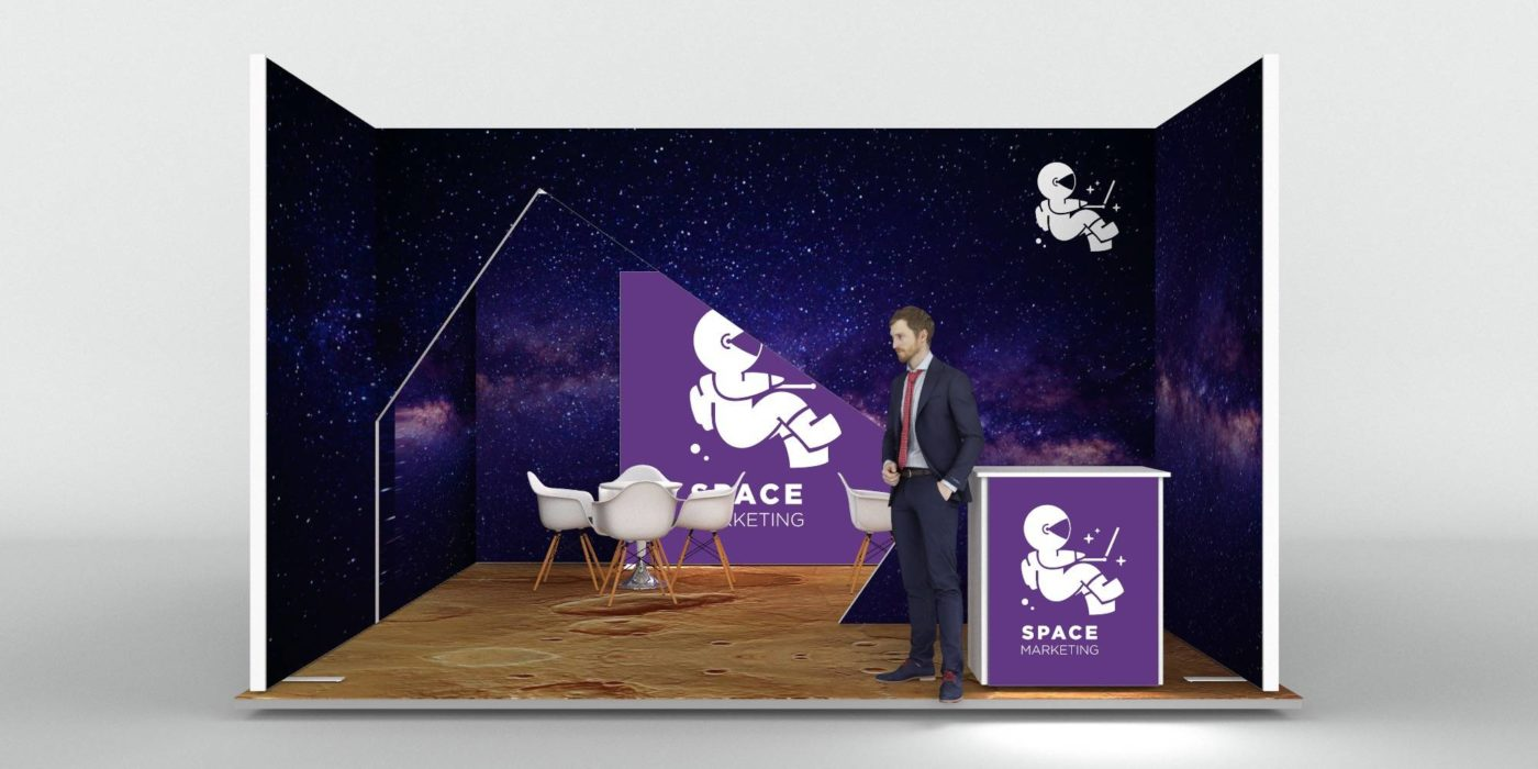 5x5m Exhibition Stand with Meeting Area View 3