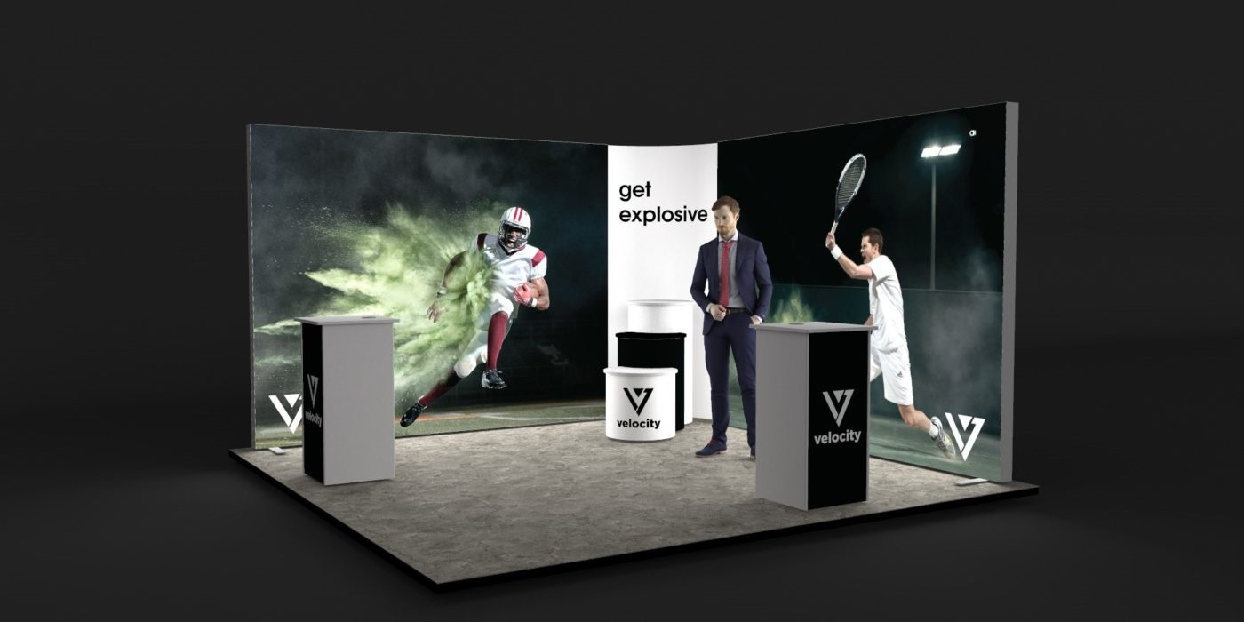 4x4m 2 Sided Backlit Exhibition Stand View 2