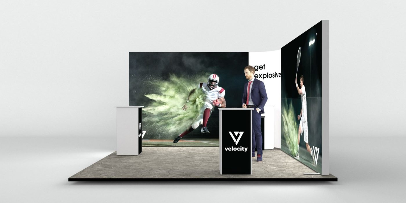 4x4m 2 Sided Backlit Exhibition Stand View 3