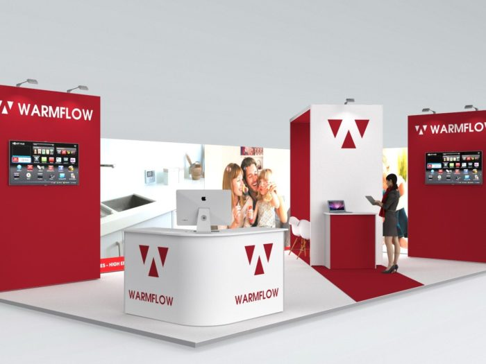 9x5m Exhibition Stand with 3mtr High Walls