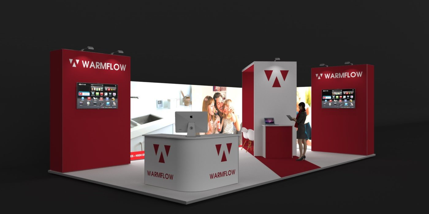 9x5m Exhibition Stand with 3mtr High Walls View 2