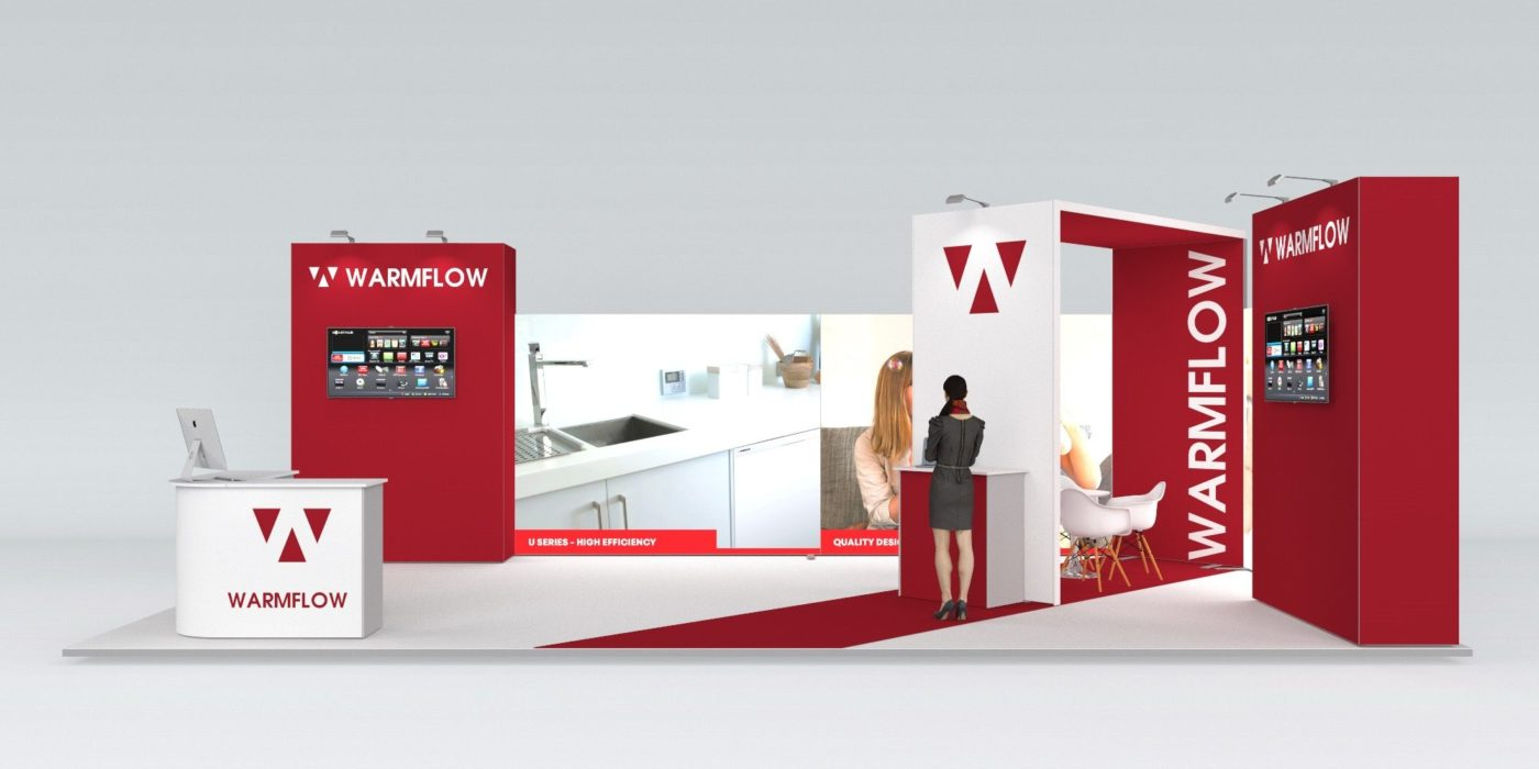 9x5m Exhibition Stand with 3mtr High Walls View 3