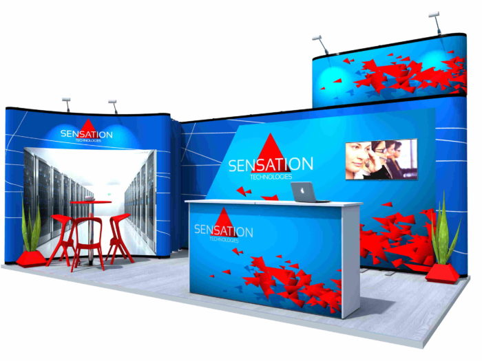 Nomadic Display Reconfigurable pop Up Stand 3