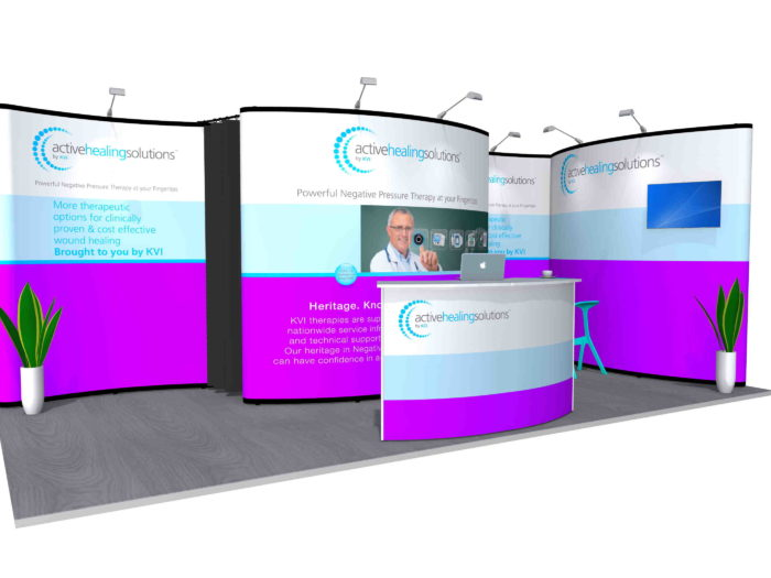 6x3m Nomadic Instand Pop Up Exhibition Stand Reconfig 2