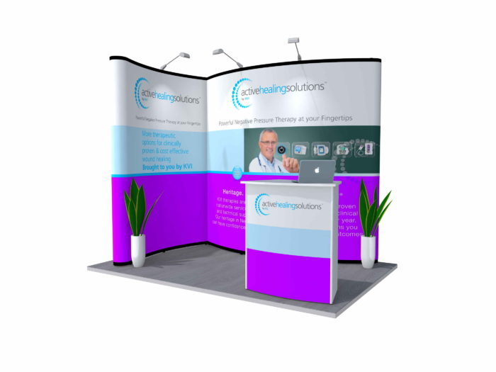 6x3m Nomadic Instand Pop Up Exhibition Stand Reconfig 1