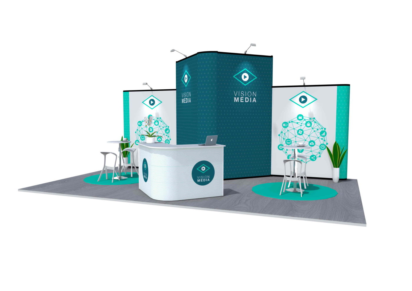 7x4m Nomadic Instand Pop Up Exhibition Stand