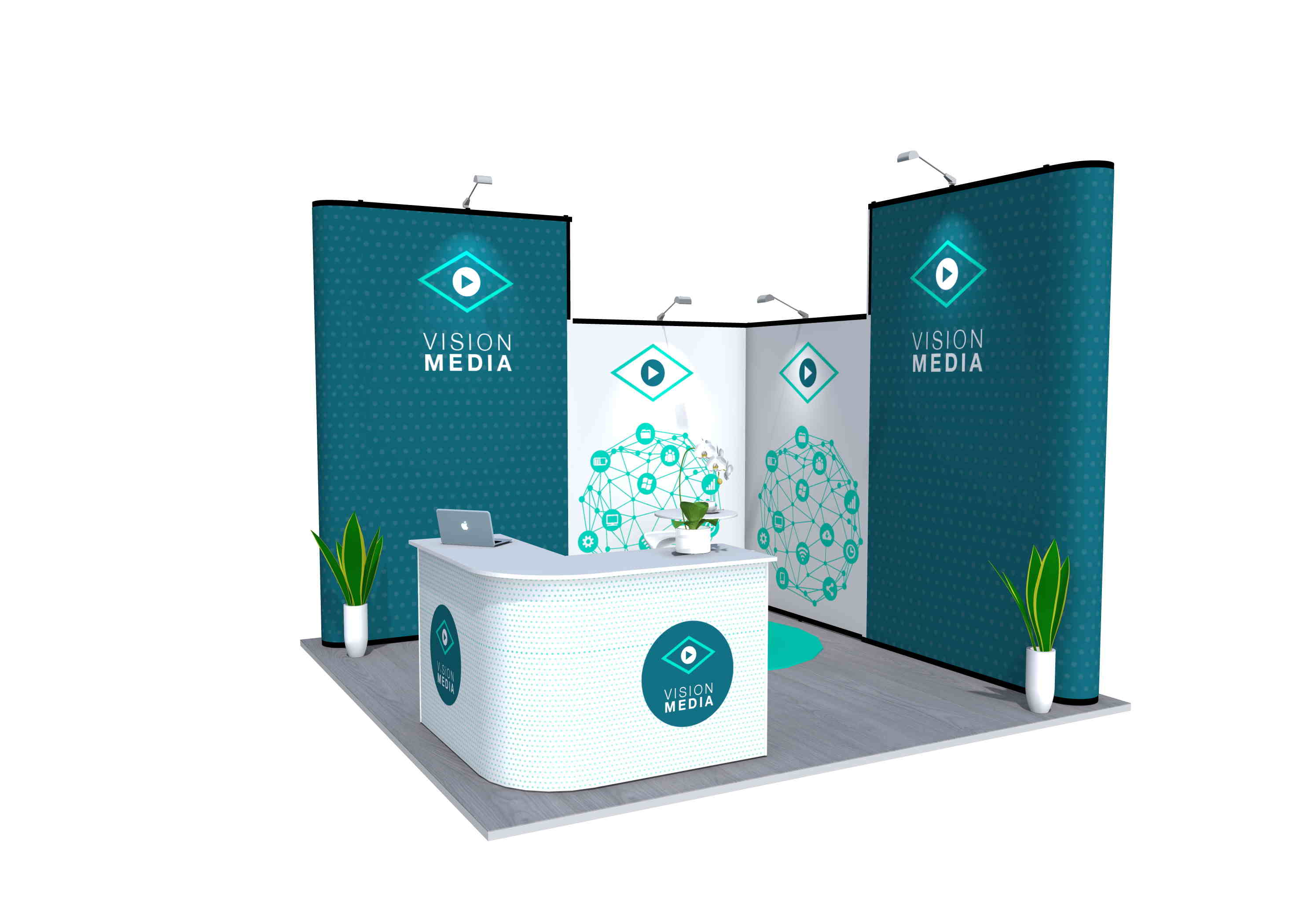 7x4m Nomadic Instand Pop Up Exhibition Stand 3
