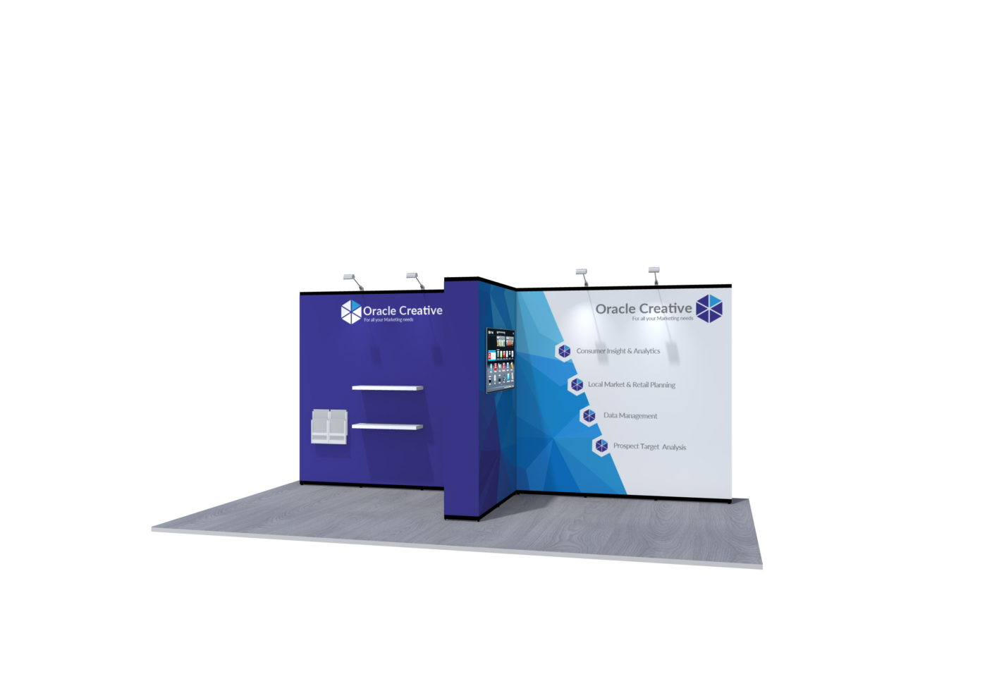 4x4m Nomadic Instand Pop Up Exhibition Stand 2