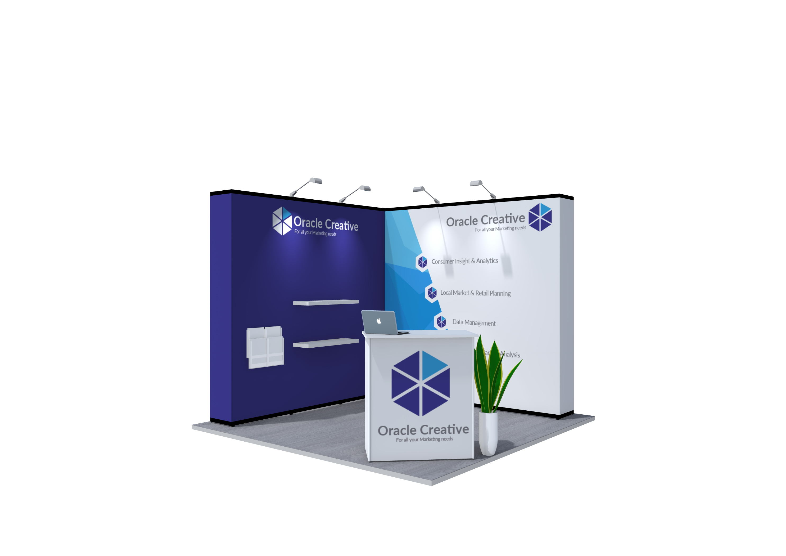 4x4m Nomadic Instand Pop Up Exhibition Stand 1